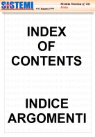 INDEX OF CONTENTS MAREASISTEMI